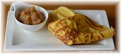 Eierpfannkuchen mit Maismehl